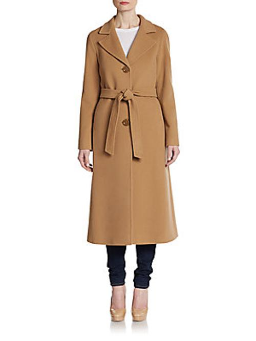 Long Wool Coat by Cinzia Rocca DUE in About Last Night