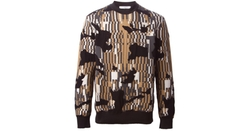 Optical Jacquard Sweater by Givenchy in Empire