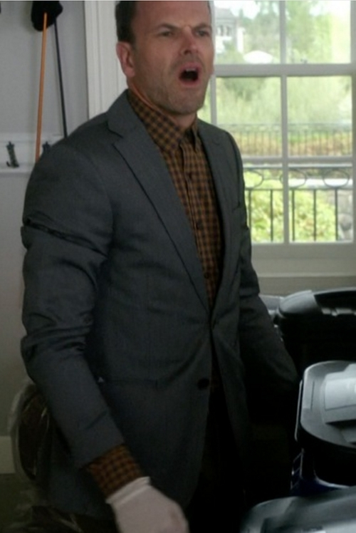Custom Made Check Button Shirt by Cego in Elementary - Season 4 Episode 7