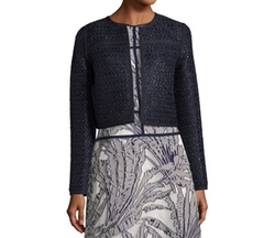 Kadian Loop-Stitch Cropped Jacket by Lafayette 148 New York in Designated Survivor