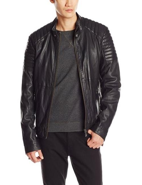 Men's Leather Biker Jacket by Versace Jeans in John Wick