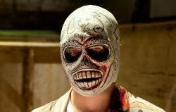 Custom Made White Día de Muertos Mask by Cindy Evans (Costume Designer) in Savages