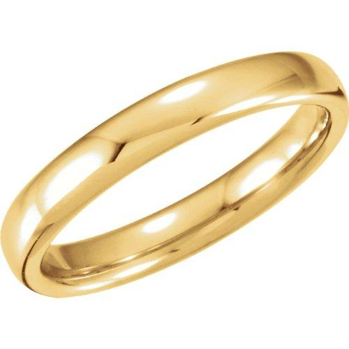 6.5mm 14k Yellow Gold Euro-Style Light Comfort-Fit Band by The Men's Jewelry Store in The Other Woman