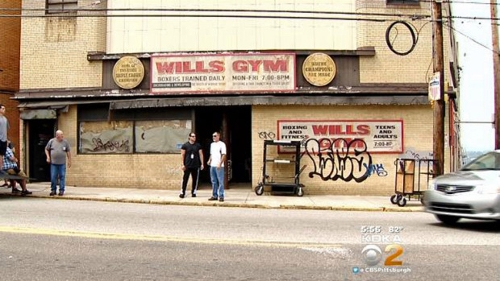 Carrick's Gym (Depicted as Wills Gym) Pittsburgh, Pennsylvania in Southpaw
