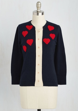 Heart-Cover Copy Cardigan by Modcloth in Fuller House
