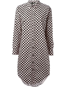 Check Pattern Shirt Dress by Love Moschino in Pan