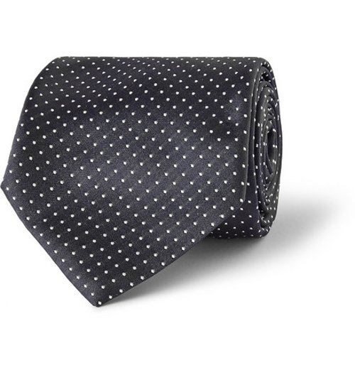 Martini Polka-Dot Silk Tie by Dolce & Gabbana in The Gunman