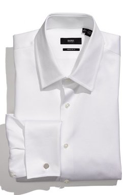 Lawrence US Regular Fit Dress Shirt by Boss Hugo Boss in Crazy, Stupid, Love.