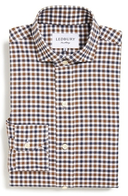 'Grove' Gingham Dress Shirt by Ledbury in Modern Family