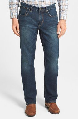 Denim 'Dallas' Authentic Fit Straight Leg Jeans by Tommy Bahama in Get Hard