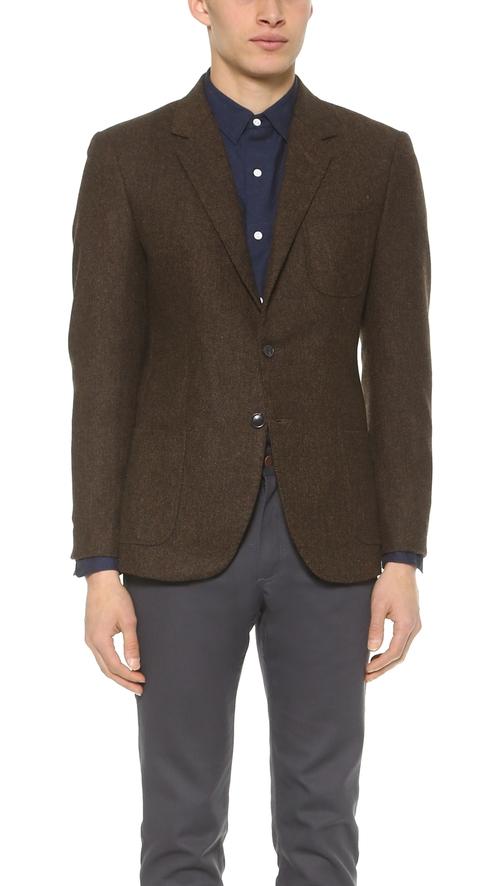 Tweed Herringbone Blazer by Brooklyn Tailors in Clueless