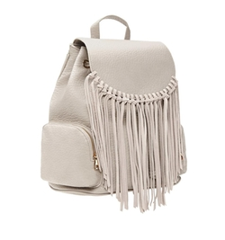 Faux Leather Fringe Backpack by Forever 21 in Marvel's Runaways