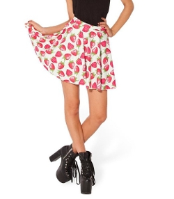 Strawberries Printed Skirt by JTC in Mean Girls