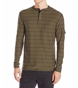 Printed Stripe Henley Shirt by Modern Culture in Silicon Valley