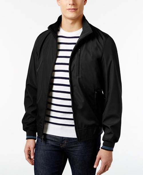 Three-Pocket Zip-Front Lightweight Jacket by Perry Ellis in Jason Bourne