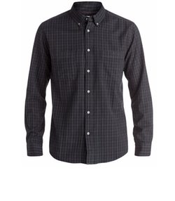 Men's Sound Touch Plaid Button-Down Shirt by Quiksilver in Animal Kingdom
