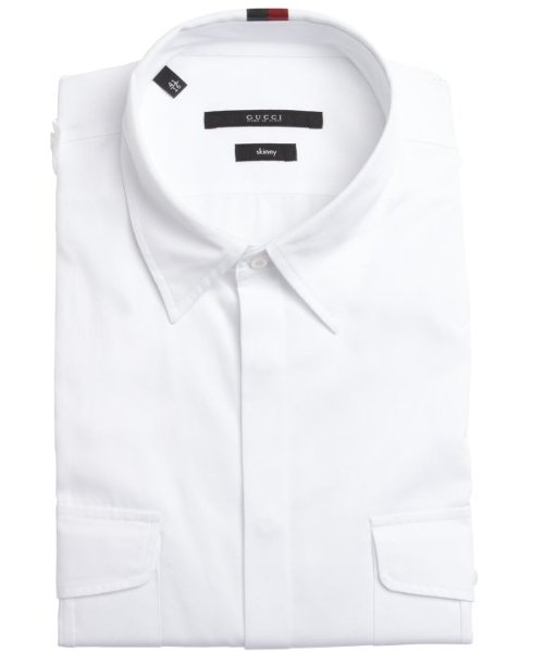 Cotton Button Front Point Collar Shirt by Gucci in The Second Best Exotic Marigold Hotel