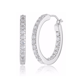 """Timeless"" Swarovski Hoop Earrings by Myia Passiello in Creed"