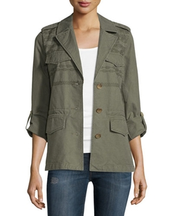 Tab-Sleeve Cotton Jacket by Joie in The Big Bang Theory