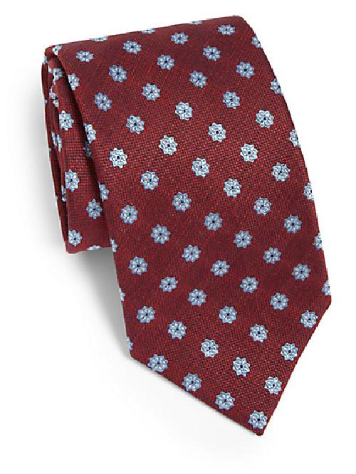 Flower Print Silk Tie by Brioni in The Wolf of Wall Street