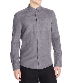 Button-Down Collar Linen Slub Shirt by Kenneth Cole New York in Me Before You