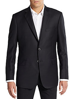 Regular-Fit Wool Blazer by Saks Fifth Avenue in The 33