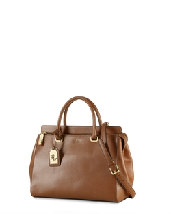 Whitby Leather Satchel Bag by Ralph Lauren in Quantico
