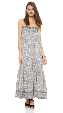 Kerala Maxi Dress by Ulla Johnson in Black-ish