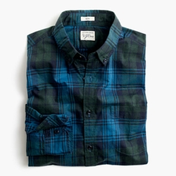 Heather Poplin Plaid Shirt by J. Crew in New Girl