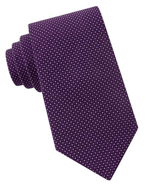 Micro Dot Silk Tie by Michael Kors in Billions - Season 1 Episode 1