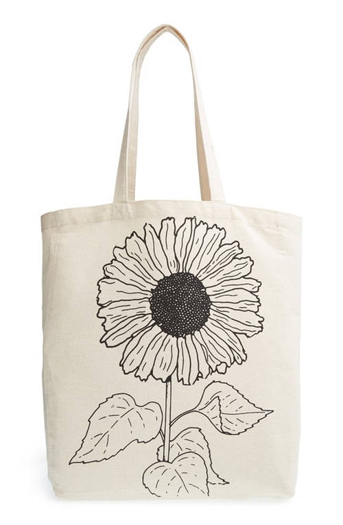 'Sunflower' Canvas Tote by Tri-Coastal Design in Spy