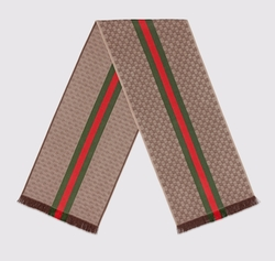 GQ Jacquard Knit Scarf by Gucci in War Dogs