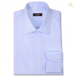 Light Blue Herringbone Dress Shirt by Anto Beverly Hills in Central Intelligence