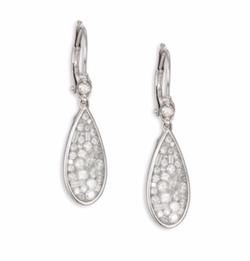 Ice Diamond White Gold Teardrop Earrings by Plevé in The Bachelorette
