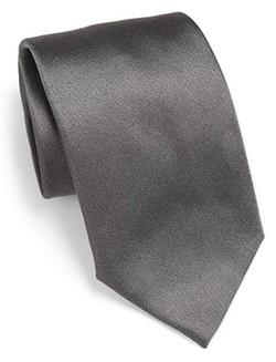 Solid Silk Tie by Armani Collezioni in Supergirl