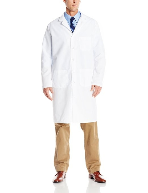 Notched Lapel Collar Lab Coat by Red Kap in The Longest Ride