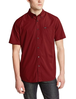 Men's Revival Short Sleeve Shirt by RVCA in Paper Towns