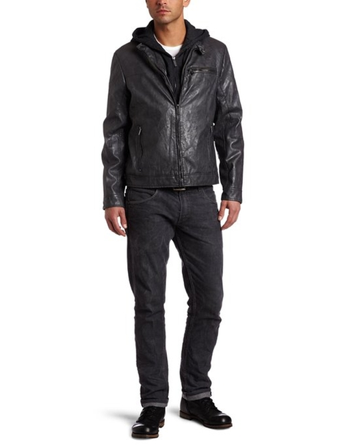 Men's Moto Jacket With Fleece Hood by Kenneth Cole Reaction in Mission: Impossible - Ghost Protocol