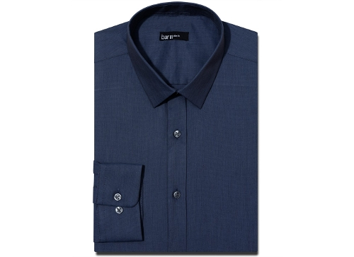 Slim-Fit Solid Dress Shirt by Bar III in The Longest Ride