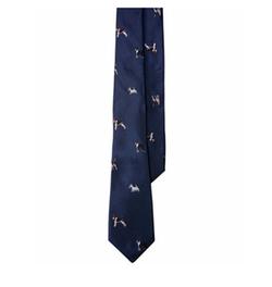 Canine-Print Club Tie by Lauren Ralph Lauren in Dirk Gently's Holistic Detective Agency