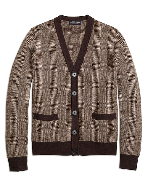 Glen Plaid Cardigan by Brooks Brothers in Ricki and the Flash