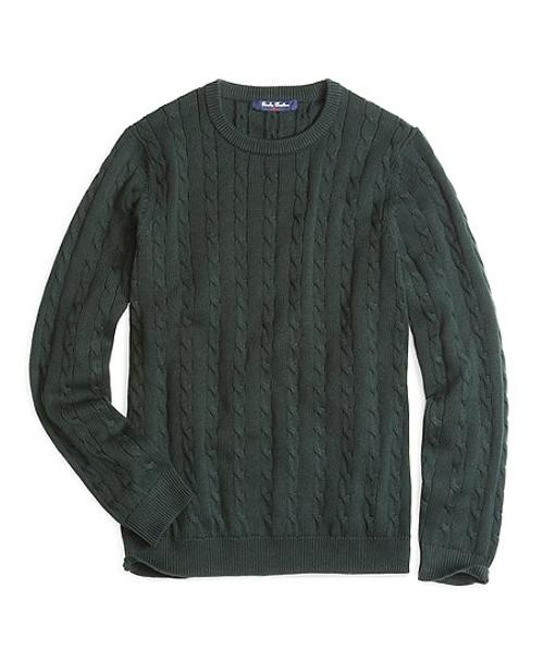 Crewneck Cable Sweater by Brooks Brothers in If I Stay