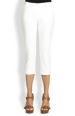Cropped Cotton Pants by Michael Kors in The Second Best Exotic Marigold Hotel
