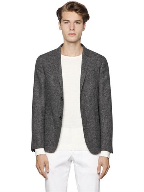 Cotton & Linen Summer Tweed Blazer by Z Zegna in Why Him?