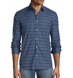 Star USA Plaid Slim-Fit Sport Shirt by John Varvatos in Logan