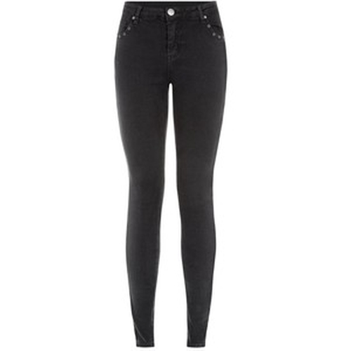 Parisian Black Eyelet Trim Skinny Jeans by New Look in New Girl