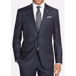 'Jay' Trim Fit Check Wool Sport Coat by Ted Baker London in Empire