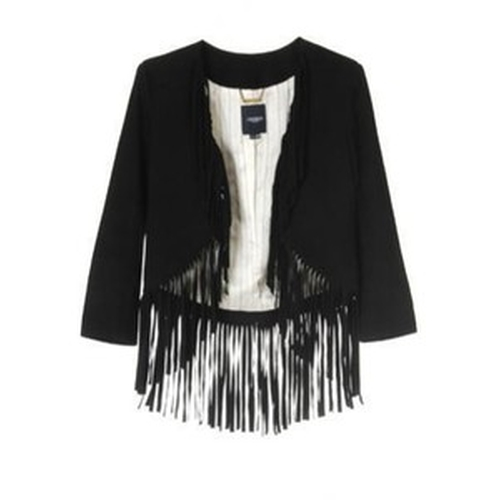 Suede Fringed Jacket by Gryphon in Pretty Little Liars - Season 6 Episode 3