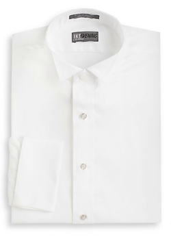 Regular-Fit French Cuff Pique Dress Shirt by Ike Evening By Ike Behar in Absolutely Anything