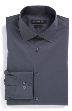 Textured Oxford Dress Shirt by Ermenegildo Zegna in Focus